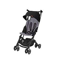 With is exceptional design innovation the gb Pockit+ is one of the smallest folding strollers and ideal for traveling. In only two steps the lightweight stroller turns into a package small enough to place it in the overhead luggage co...