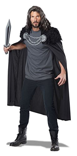 [POPLife Wolf Clan Warrior Nights Watch Medieval Adult Costume] (Night Watch Costumes)