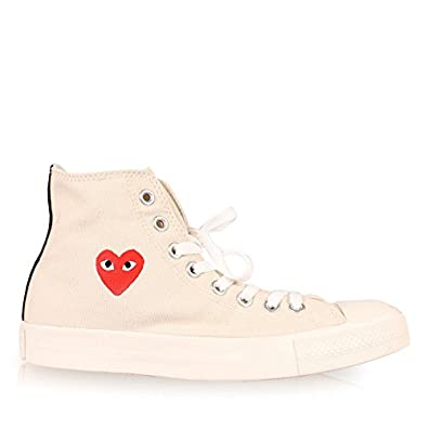 44380c4e5133 Comme Des Garcons PLAY Converse Chuck Taylor Hi-Tops Cream  Amazon.co.uk   Jewellery