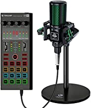 USB Podcast Condenser Microphone for pc Gaming,USB Streaming Cardioid Microphone Kit