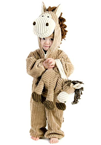 Princess Paradise Deluxe Corduroy Horse Infant/Toddler Costume, Brown, 18 Months - 2T