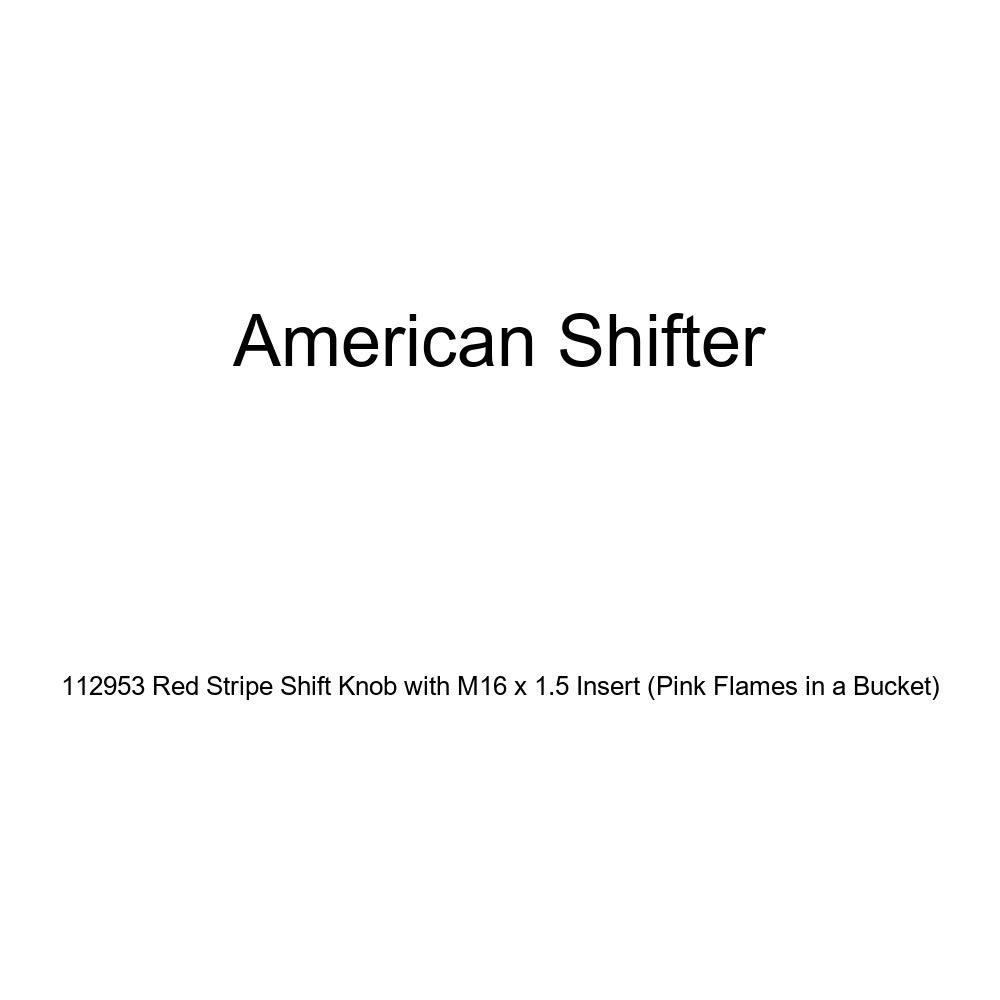 American Shifter 128026 Green Stripe Shift Knob with M16 x 1.5 Insert Red Skulls /& Gothic Skull /& Crossed Swords