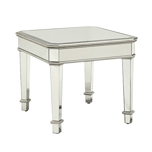 Coaster Home Furnishings 703937 End Table, NULL, Silver by Coaster Home Furnishings