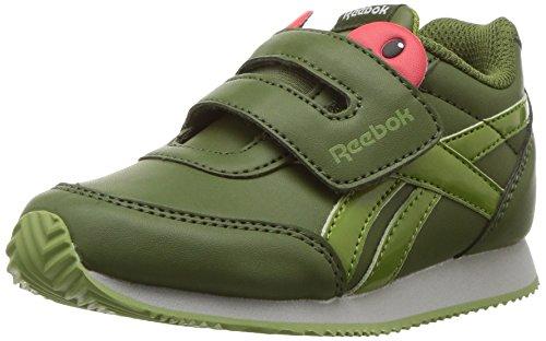 (Reebok Baby Royal CL Jogger 2 KC Sneaker, Tree Frog-Wild Green/Bright Moss/Skull Grey, 2 M US Toddler)
