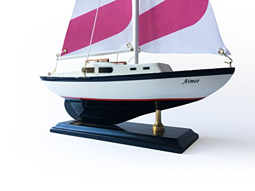 "New Columbia Wooden Nautical Sail Boat Ship Model 16/""-4"