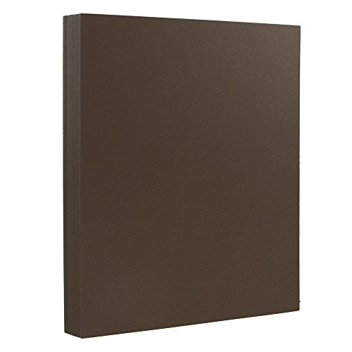 JAM PAPER Heavyweight 100lb Cardstock - 8.5 x 11 Coverstock - Chocolate Brown - 50 Sheets/Pack