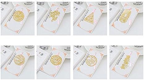 Stil 4 6,6 cm Hacoly Bookmarks Cherry Blossom Buchmarkierungskabel Lesezeichen f/ür Reisende Student Reader Buchkarten 11