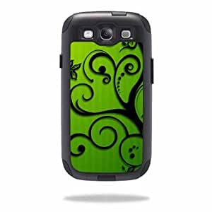 Protective Vinyl Skin Decal Cover for OtterBox Commuter Samsung Galaxy S III S3 Case Sticker Skins Floral Flourish...