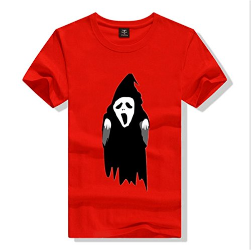 taianhengruixin Womens Halloween ghosts goblins pattern Pure cotton T-shirt Red Size L (Clipart Halloween Ghost)