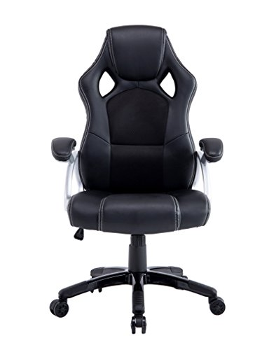 410PaFphDKL - Best Choice Products Executive Racing Office Chair PU Leather Swivel Computer Desk Seat