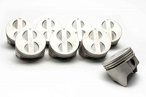 Chevy Small Block Flat Top Cast 4 Valve Relief Pistons, 5.7L, 350 Piston set of (8) +.030