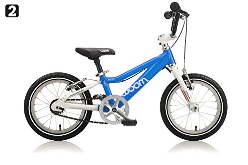 """woom 2 Pedal Bike 14"""", Ages 3 to 4.5 Years, Blue"""