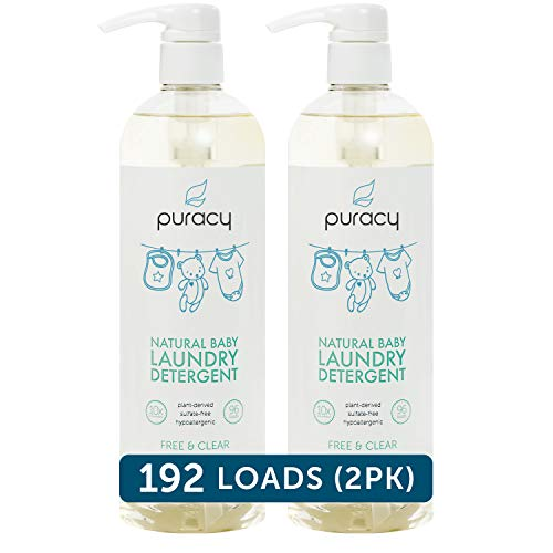 Puracy Natural Baby Liquid Laundry Detergent, Sensitive Skin, Nontoxic, Free & Clear (192 Loads)