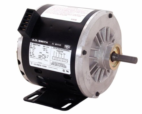 Smith Ao Fan Motor (A.O. Smith OTEB2054A 1/2 HP, 1725 RPM, 1 Speed, 56Z Frame, CWLE Rotation, 1/2-Inch by 2-5/8-Inch Flat Shaft OEM Direct Replacement)