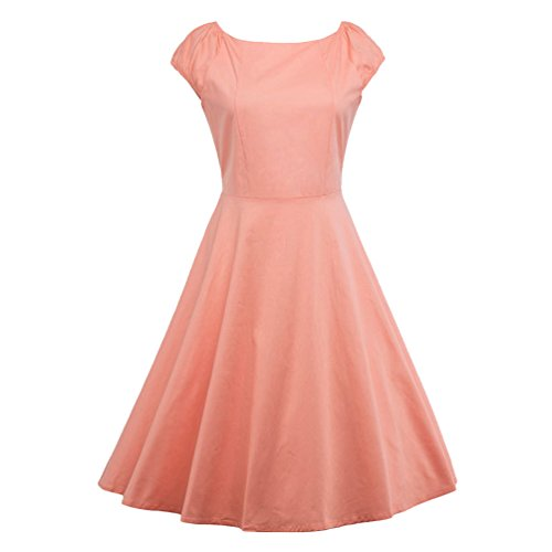 Vintage Dress Rockabilly Party Retro Cocktail Donna Swing Abito Rosa Vestiti Yaancunn wzXUn0q4