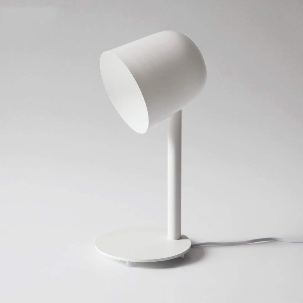 LC-Kwn White Desk Lamp LED lamp Holder Low Power Consumption Creative Living Room Study Desk Eye Care Study Desk Lamp