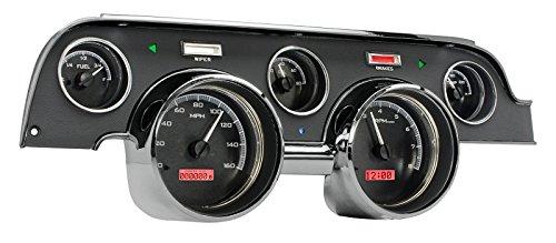 Dakota Digital 67 68 Ford Mustang Analog Dash Gauge Black Alloy Red VHX-67F-MUS-K-R