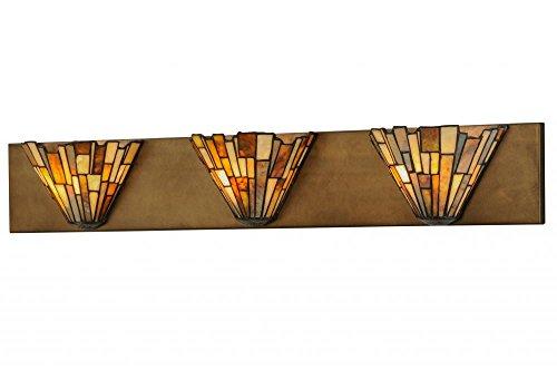 Meyda Tiffany 144976 Delta Jadestone 3 Light Vanity Light Fixture, 36