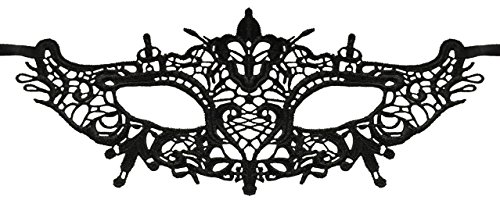 (Luxury Mask Women's Lace Eye Mask For Masquerade Party Prom Ball Halloween,Crown Lace Mask,One)
