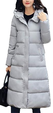 Femme Long à Épais YOGLY Blouson Capuche Veste Chaud Casual Elégante Manteau Légère pour Doudoune Outwear Hiver XOkPiZu