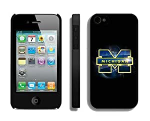 Cool Element Iphone 4s Case Mate Personalized Iphone 4 Black Cover Ncaa Michigan Wolverines Team Logo for Guys