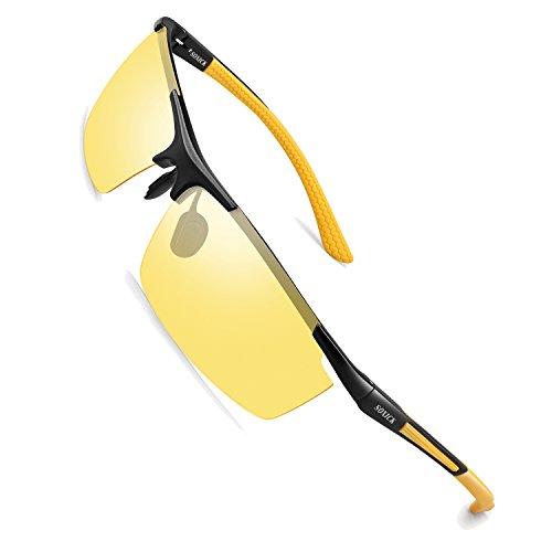 Soxick Night Driving Polarized Glasses for Men Women Anti Glare Rainy Safe HD Night Vision HOT Fashion Sunglasses ()