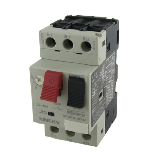 uxcell 690V 24-32A Thermal Motor Protector Circuit Breaker 3P
