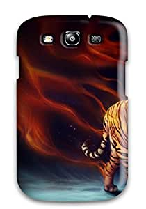 Anti-scratch And Shatterproof Power Tiger Phone Case For Galaxy S3/ High Quality Tpu Case