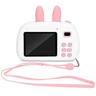 Cartoon Rabbit Kids Camera, 2.4 Inch ISP Screen 1080P HD Dual Lens Digital Video SLR Children Camera Perfect for Boys and Girls(Pink)
