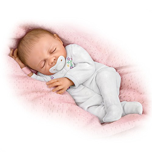 Cherish with Free Pacifier and Hospital Bracelet You Can Personalize So Truly Real Lifelike, Realistic Newborn Baby Doll 18-inches by The Ashton-Drake Galleries