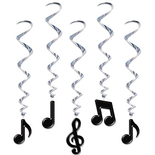 Musical Note Whirls (5/Pkg) ()