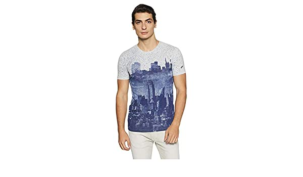 Indian Handicrfats Export Multi Printed Regular Fit Cotton Mens T-Shirt