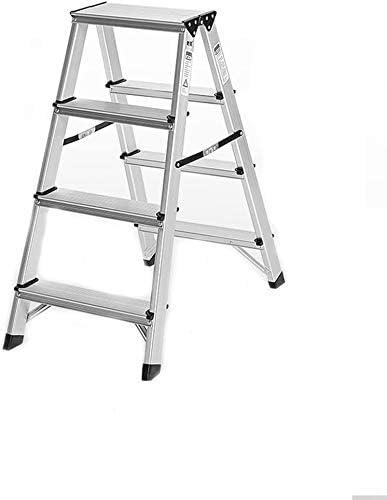 HOMRanger Escalera de Aluminio Multifuncional para Interiores, portátil, Gruesa, Doble Cara, Interior, 3: Amazon.es: Hogar