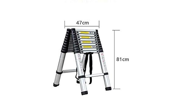 GBX Taburete Plegable Fácil Y Multifunción, Escalera Telescópica, Extensión Telescópica de Aluminio, Alto Uso Múltiple,A5: Amazon.es: Bricolaje y herramientas