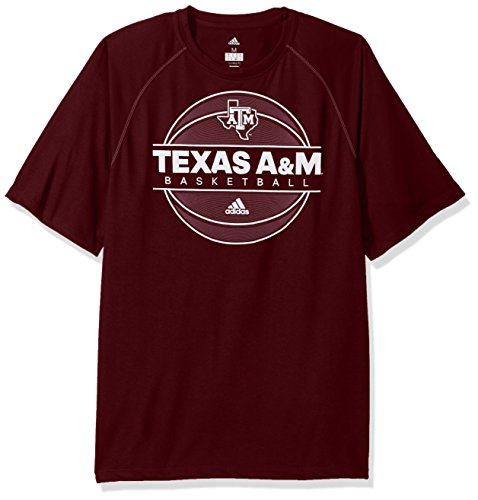 - adidas NCAA Texas A&M Aggies Mens 2017 On Court Climalite S/Tee2017 On Court Climalite S/Tee, Maroon, X-Large