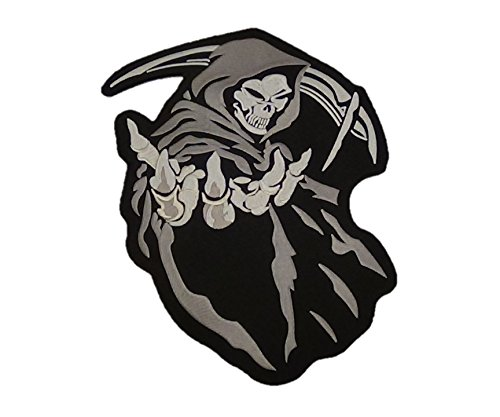 Grim Reaper Patch Angle of Death Motorcycle Biker Jacket Patch Large 12.75