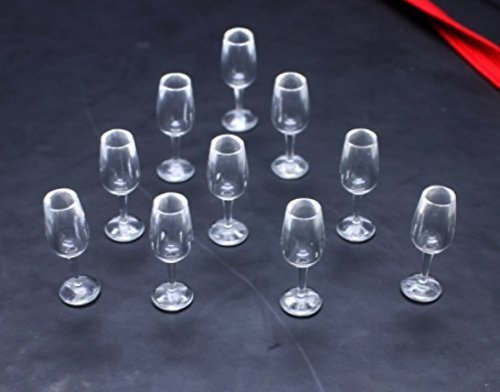 10 Psc of Wine Glass Dollhouse Miniature Handmade Food Supply