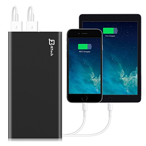 electric power Bank JETech 10000mAh 2 production portable External electric power Bank Battery Charger Pack for iPhone 6 5 4 iPad iPod Samsung equipment sharp cel Tablet PCs Black 0760 trave Chargers