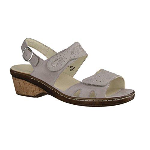 Waldläufer 547002 240 070 - Sandalias de vestir para mujer gris stein Weite H gris