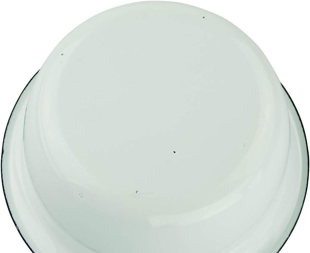 versandfuxx24 Emaille BBQ Salatschale 28cm inkl.Salatbesteck aus Holz