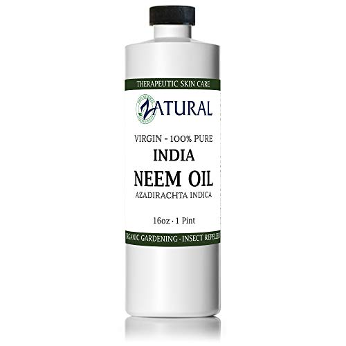 Zatural Organic Virgin Neem Oil 16 Ounce: 100% Natural Pure Cold Pressed No Additives, Unrefined Concentrate for Body and Skin, Pets, and Plants or Garden (16 Ounce ()