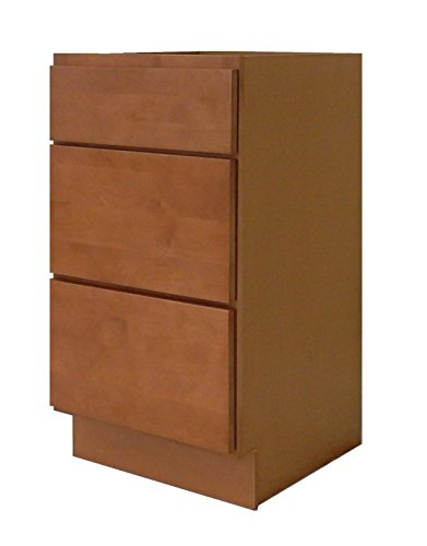 NGY Honey Shaker Vanity Base Cabinet with Soft Close Drawers Maple Wood, 18″ L