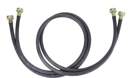 Whirlpool 8212656RP 10-Feet Black Rubber Washer Inlet Hose, 2 Pack