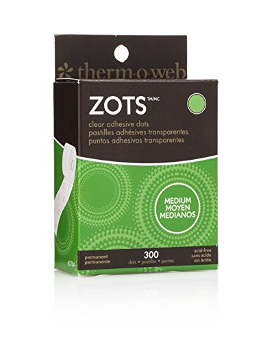 (Thermoweb Zots Clear Adhesive Dots, Medium, 3/8