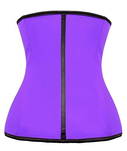 YIANNA Mujer Fajas Reductoras de Cinturón Formación para Cincher Underbust Bustiers Corsé Purple Latex Cincher