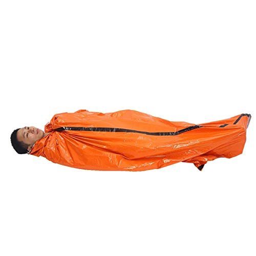 RubyShopUU Portable Camping Sleeping Bag Emergency Blanket First Aid Survival Rescue Tent Tool Outdoor Hiking Life-Saving Thermal Keep Warm ()