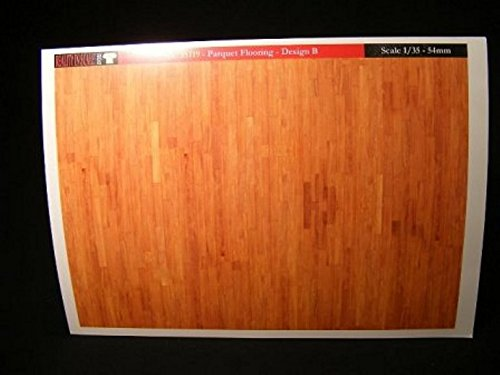 Reality In Scale 1:35 Parquet Flooring Design B A5 Sheet Diorama Accessory 35119