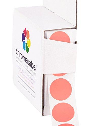 ChromaLabel 3/4 inch Color-Code Dot Labels | 1,000/Dispenser Box (Salmon)