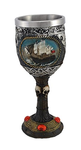 - Pirate Theme Stemmed Goblet Wine Vessel