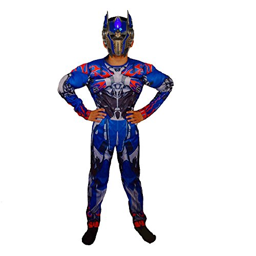 Transformers 3 Costumes (G-Dreamer Halloween Transformer Costume for Kids Optimus Prime No Mask 3 to 10yrs old (S~L))